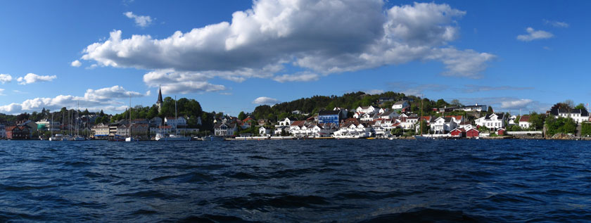 Panorama Grimstad. Foto: Espt123/Wikimedia Commons.