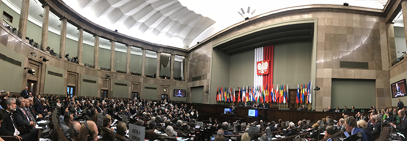 Plenary session in the Sejm, the lower house of the Polish national assembly, on Monday 28 May. Photo: Storting.