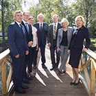 Nordic and Baltic parliamentary presidents photographed during a gathering at Lillehammer in August 2017. Photo: Storting.