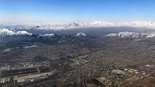 Kabul seen from the air. Photo: Storting.