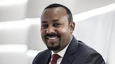 Prime Minister of Ethiopia Abiy Ahmed Ali. Photo: © Finbarr O'Reilly for the Nobel Peace Center