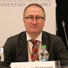 Geir Jørgen Bekkevold is head of the OSCE Parliamentary Association's election observers during the Armenian election on 2 April 2017. Photo: OSCE PA.