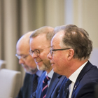 From the annual interparliamentary meeting between the European Parliament and the Storting, 23 February 2017. On the right: Øyvind Halleraker (Conservative Party), Vice Chair of the Standing Committee on Foreign Affairs and Defence. Photo: The Storting.