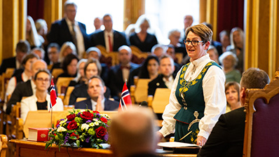 Tone W. Trøen, President of the Storting, at the State Opening of the Storting. Photo: The Storting.