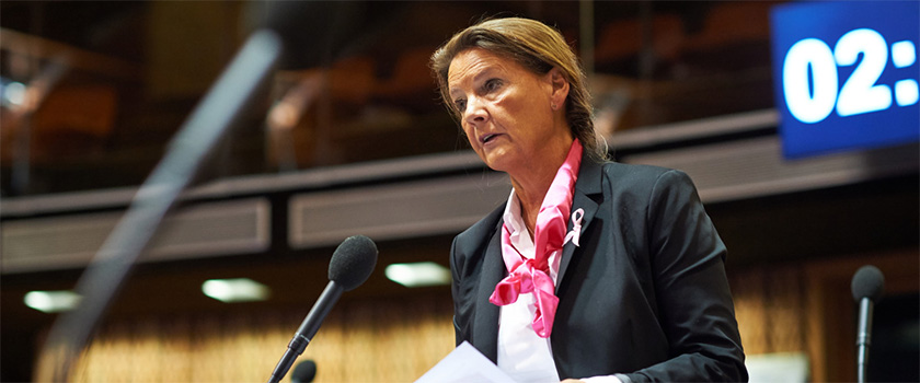 Head of the Norwegian Delegation to PACE, Ingjerd Schou. Photo: Council of Europe.